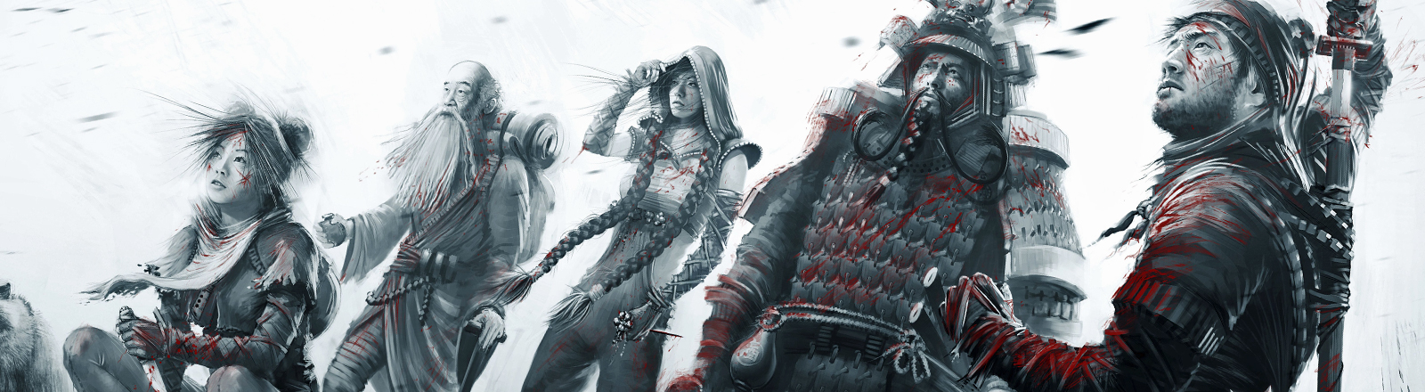 Die Helden aus dem Computerspiel Shadow Tactics.