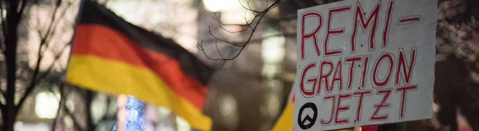 Demonstration in Berlin Remigration jetzt