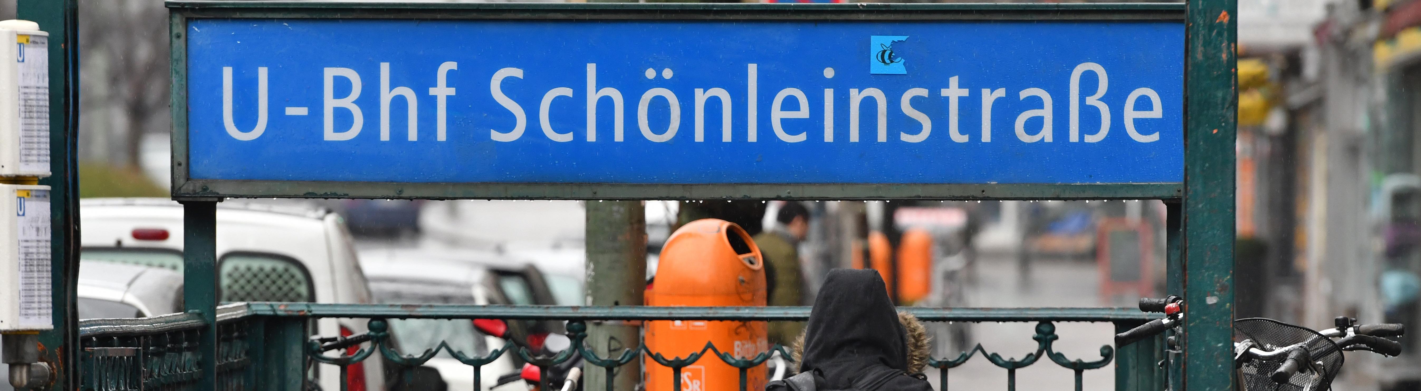 Die U-Bahn-Haltestelle Schönleinstraße