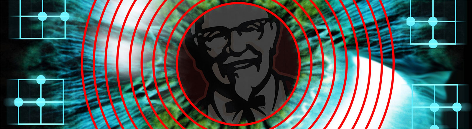 KFC-Logo in Augenscanner