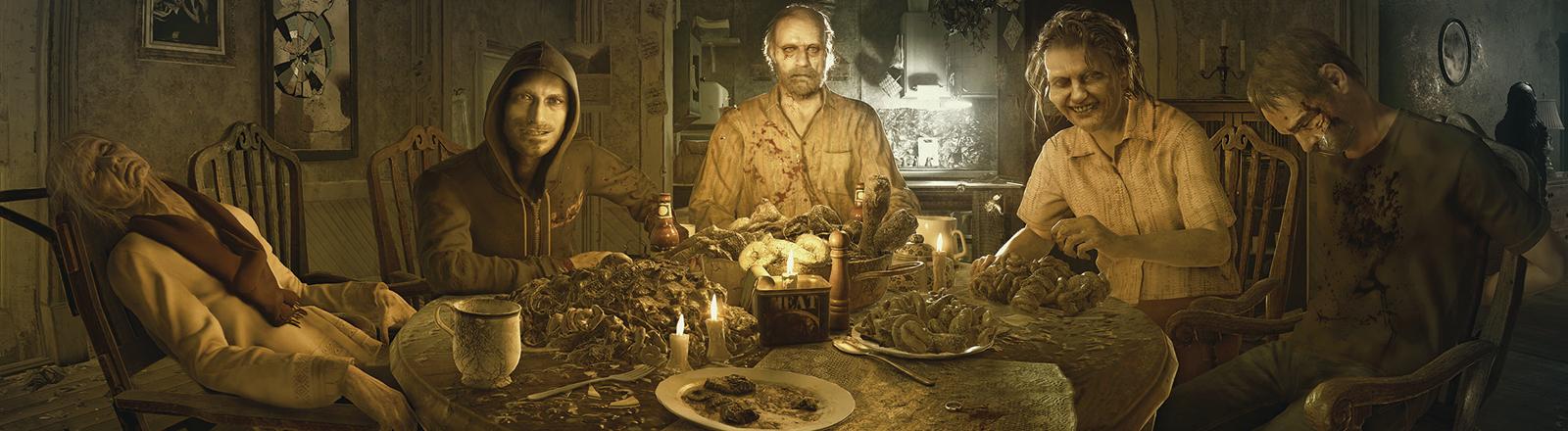 Eine Szene aus Resident Evil 7 - Biohazard.