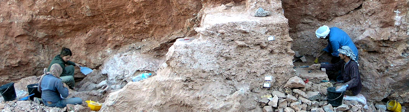 Die Fundstelle der Schädelknochen in Jebel Irhoud, Marokko