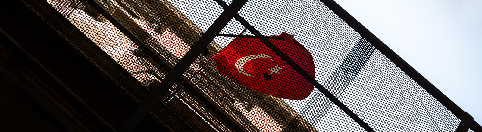 Türkeiflagge an einem Haus
