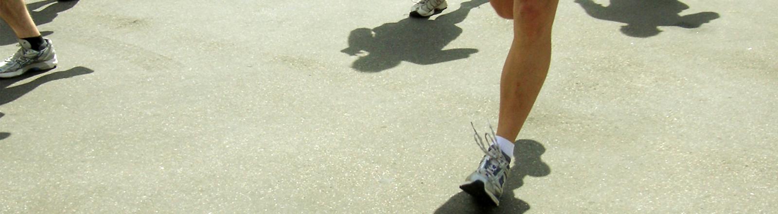 Füße von Läufern