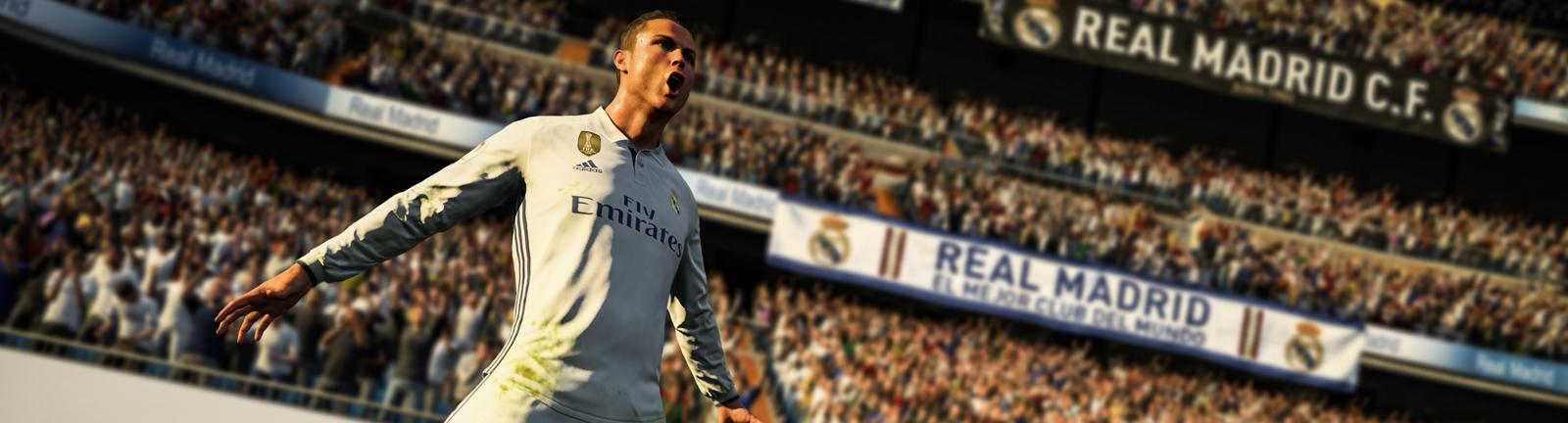 Die FIFA 18 Version von Cristiano Ronaldo