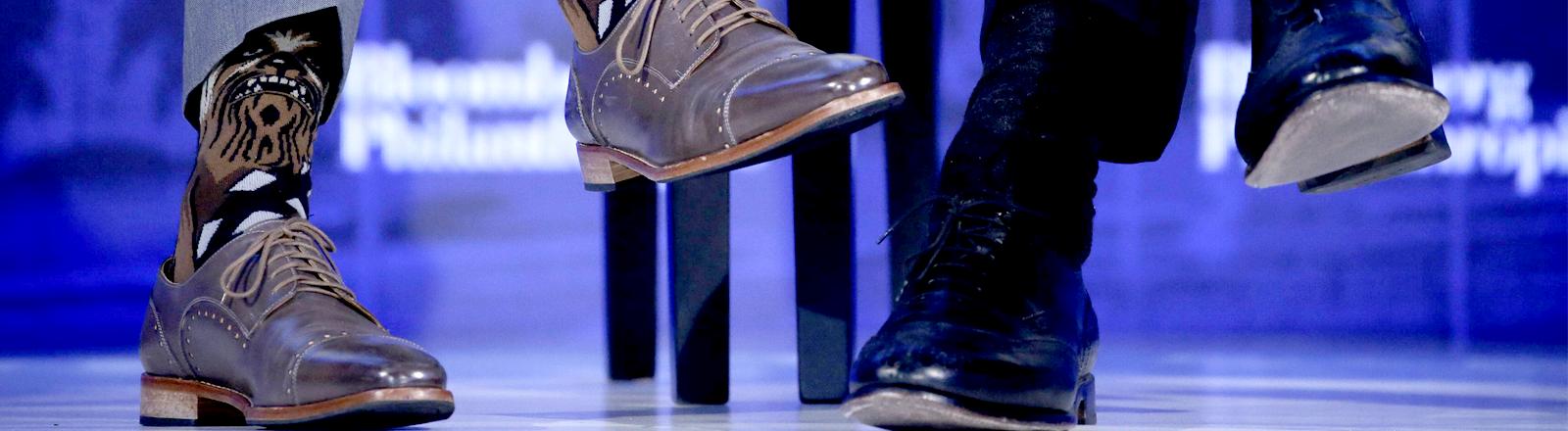 Justin Trudeau trägt auf der UN-Konferenz Star-Wars-Socken
