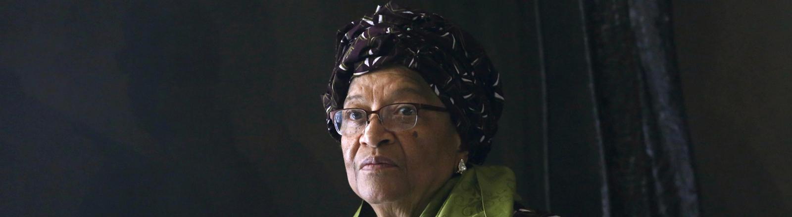 Die scheidende Präsidentin von Liberia Ellen Johnson-Sirleaf