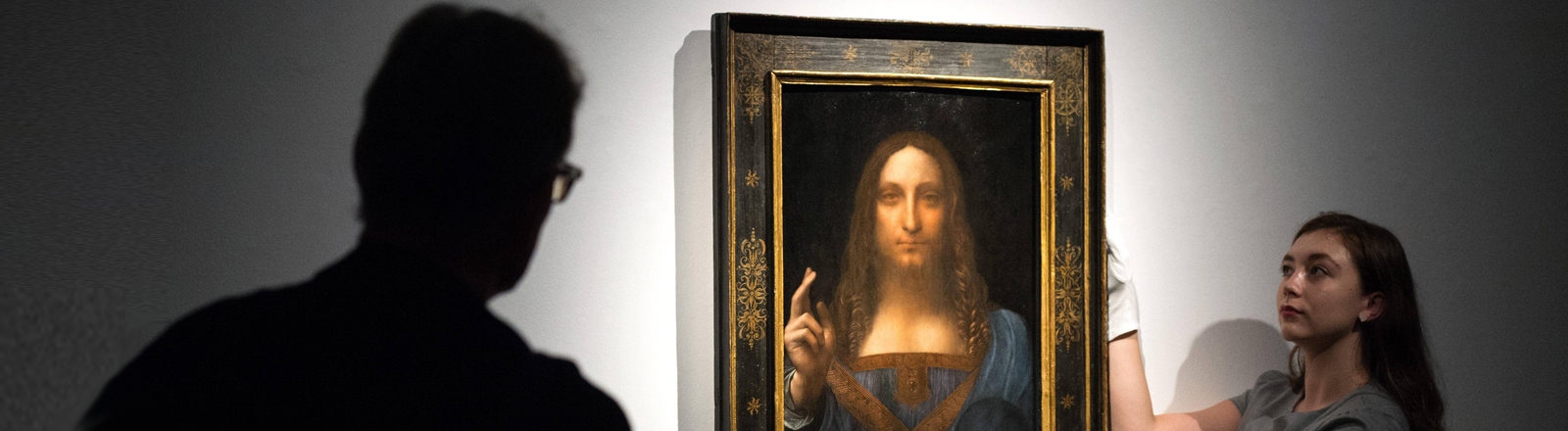 "Leonardo da Vincis Gemälde ""Salvator Mundi"" bei Christie's in New York"
