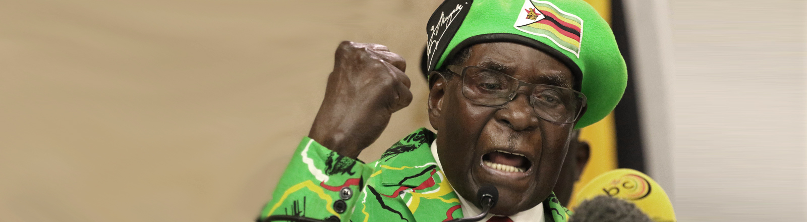 Robert Mugabe im Oktober 2017