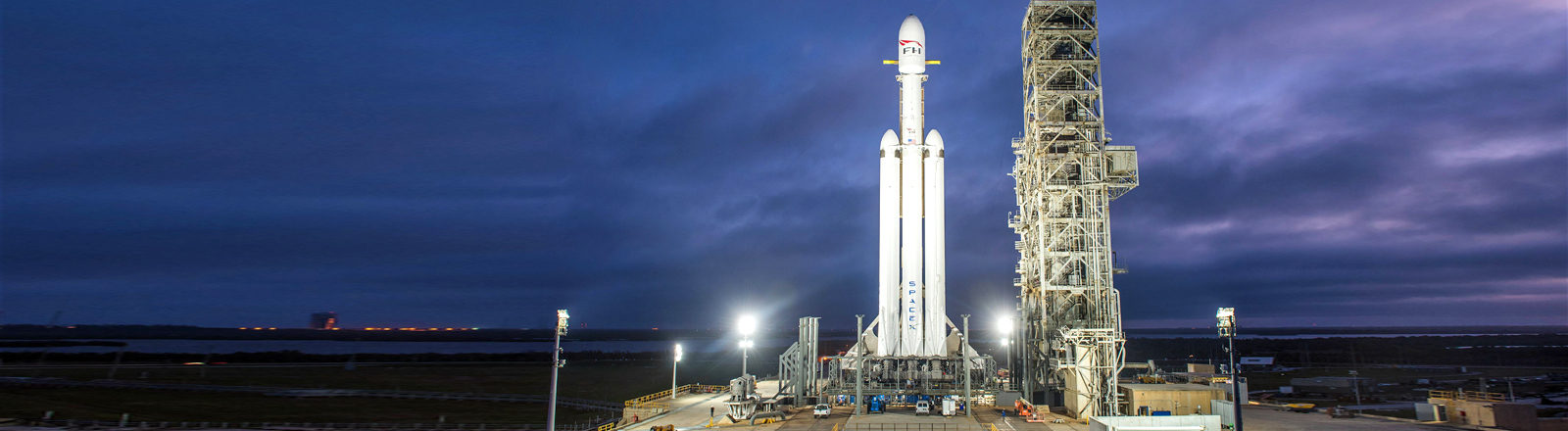 SpaxeX Rakete Falcon Heavy in Cape Canaveral, Florida