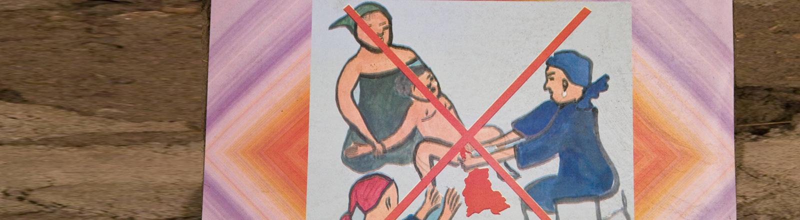Warn-Poster gegen weibliche Beschneidung