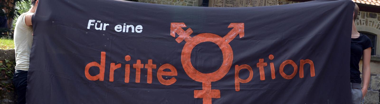 Banner für eine dritte Option beim Geschlechtseintrag