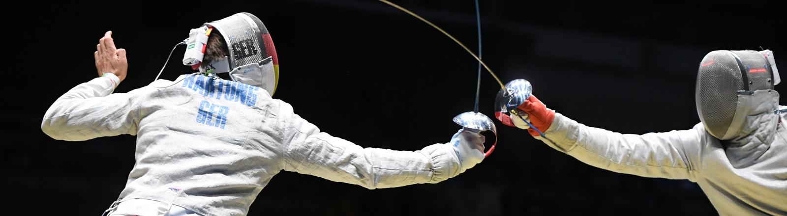 Max Hartung fechtet bei Olympia 2016 in Rio