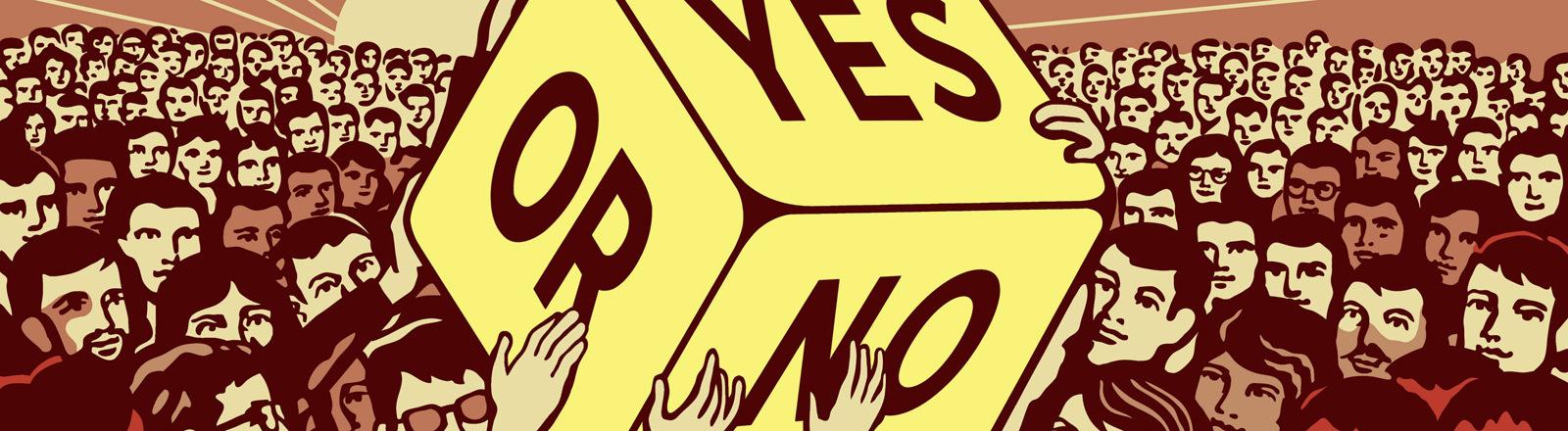 Symbolbild: Die Entscheidung über die Große Koalition.