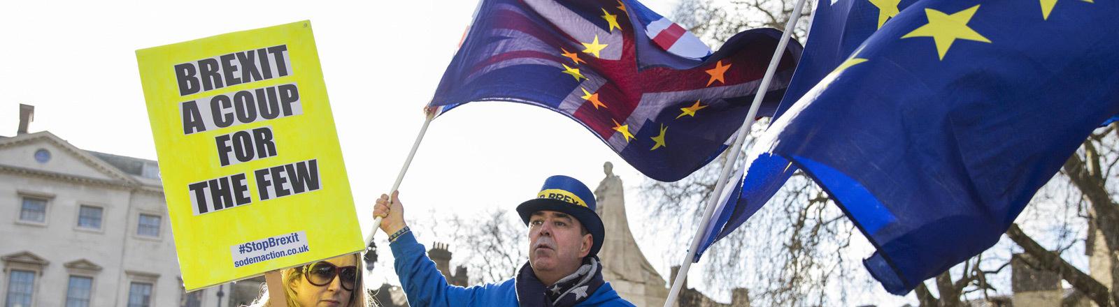 Brexit-Gegner.