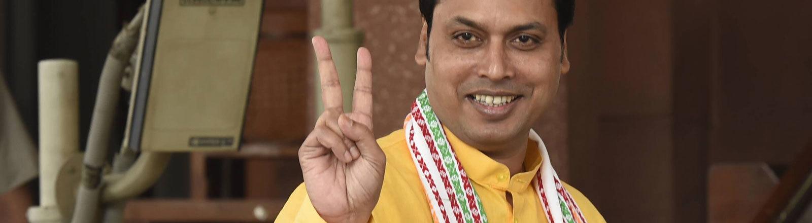 Biplab Kumar Deb, indischer Minister in Tripura