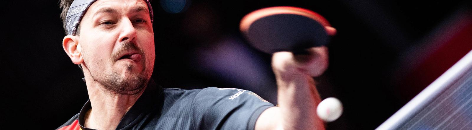 Timo Boll bei der Tischtennis-WM 2018 in Schweden.