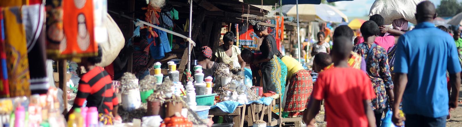 Ein Markt in Sambia.