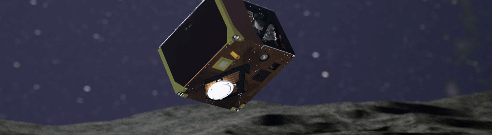 Mascot landet auf dem Asteroiden Ryugu.