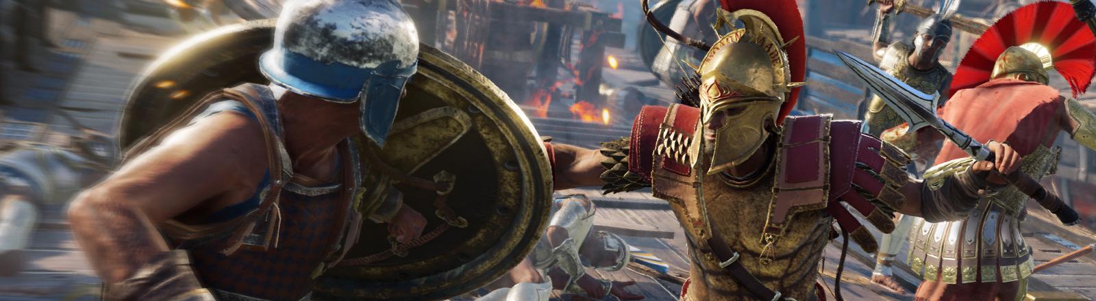 Eine Szene aus dem Computerspiel Assassin's Creed Odyssey.