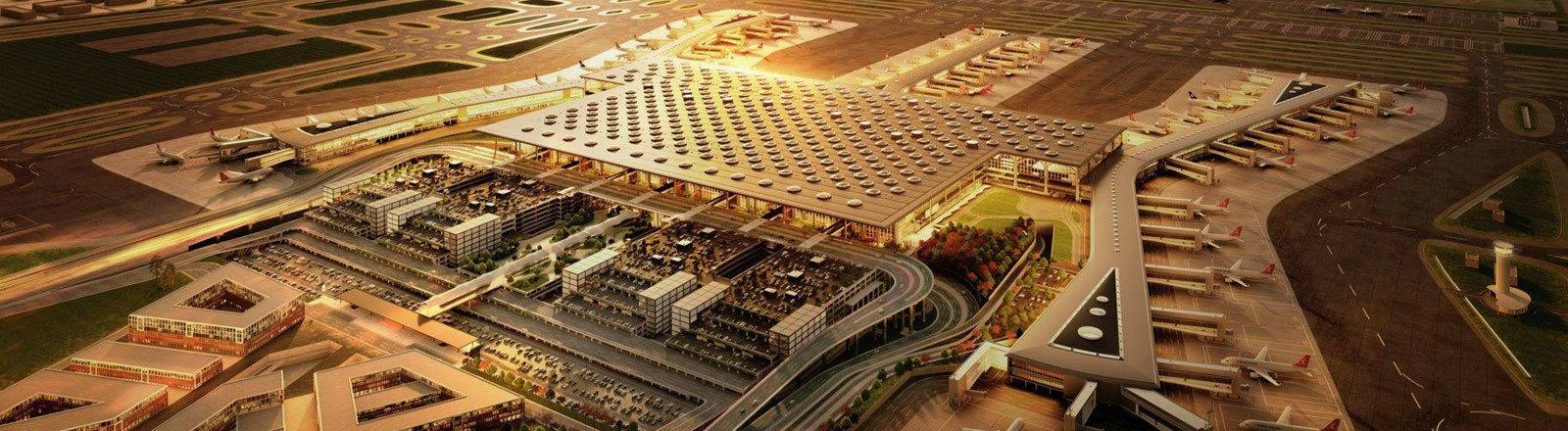 Grafik neuer Flughafen Istanbul