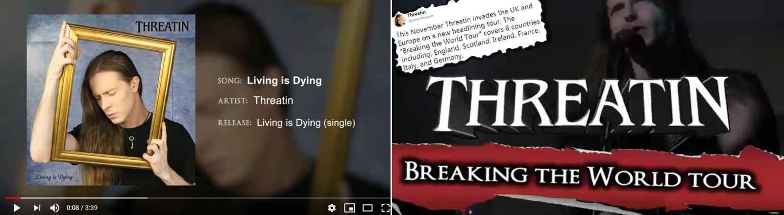 """Das Musikvideo ist echt, der Erfolg der Band """"Threatin"""" ist fake."""