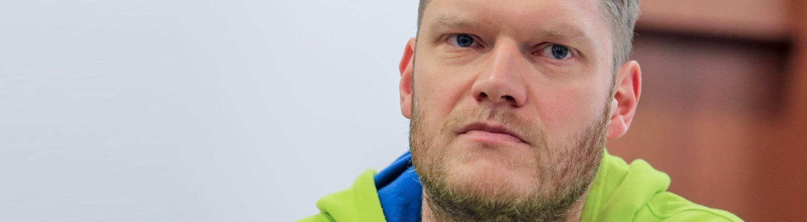 Portrait des Handball-Torwarts Johannes Bitter.