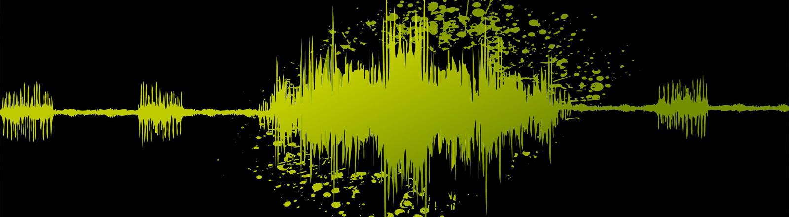 Eine Waveform, die eine Stimme darstellt