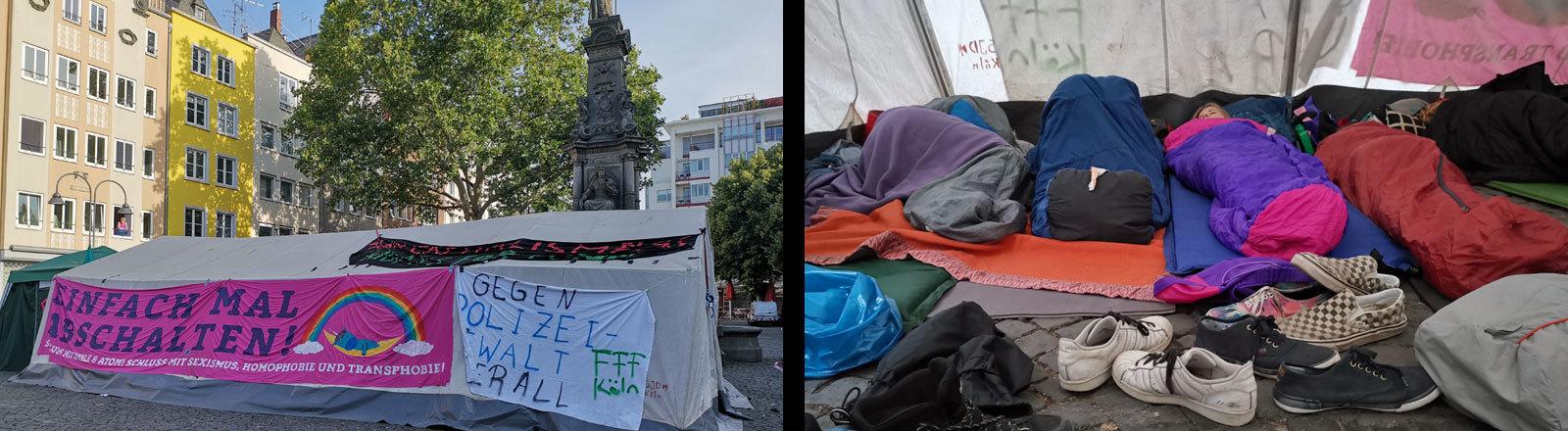 Protestcamp in Köln zur Fridays-for-Future-Protestwoche vor den Ferien.