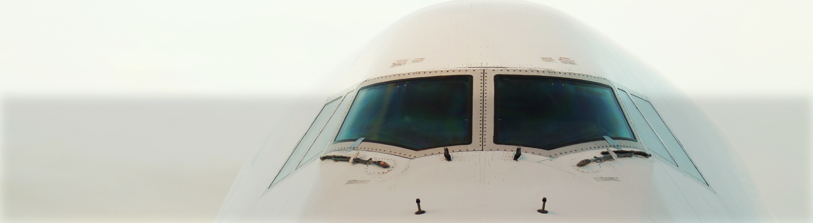 Die Nase eines Flugzeugs.