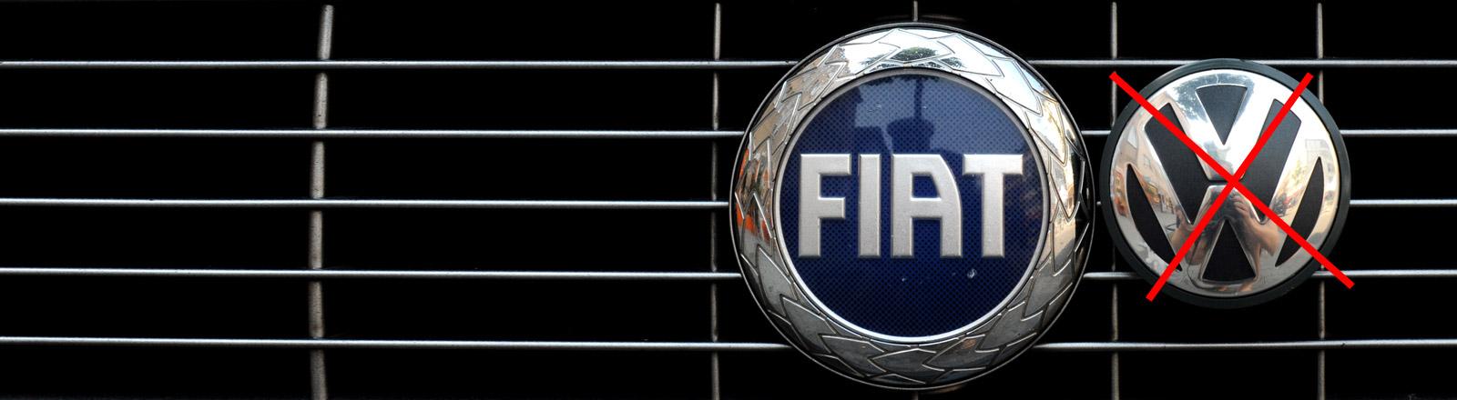 Fiat- und Volkswagenlogo