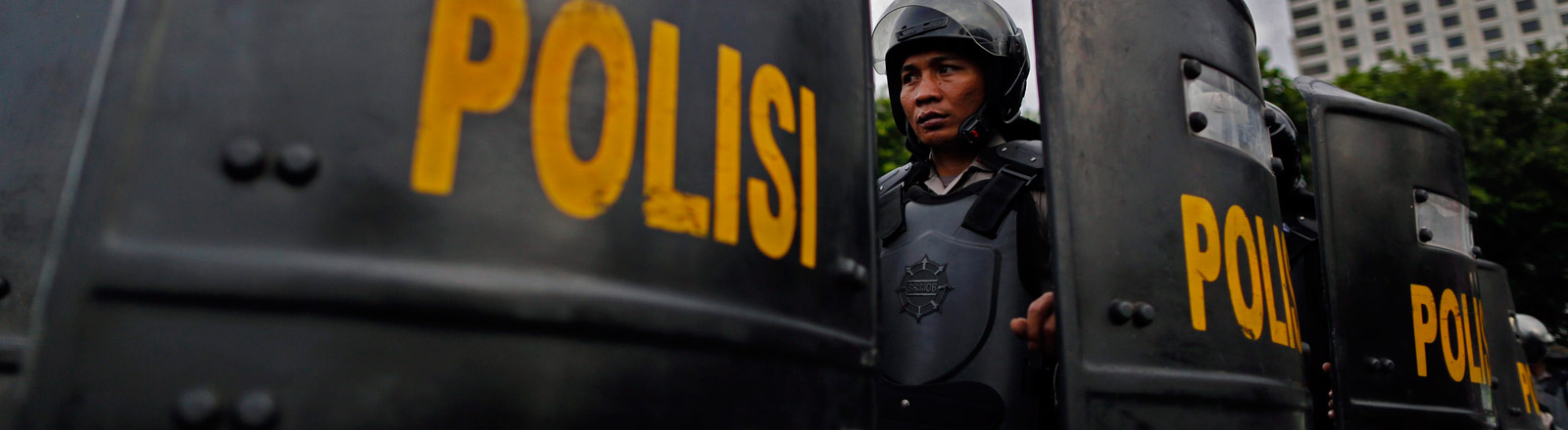 Polizisten in Indonesien