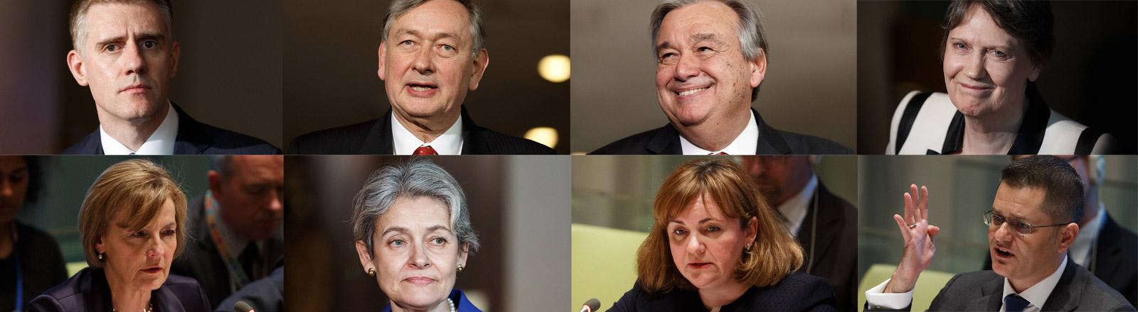 Kandidaten, die sich um das Amt des UN-Generalsekretärs bewerben