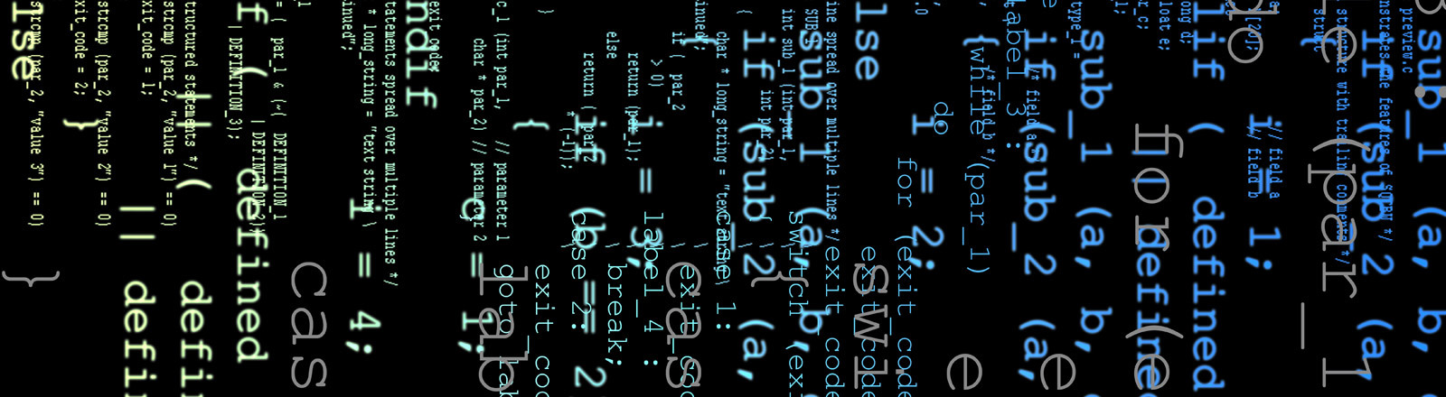 Unbestimmter Code einer Programmiersprache