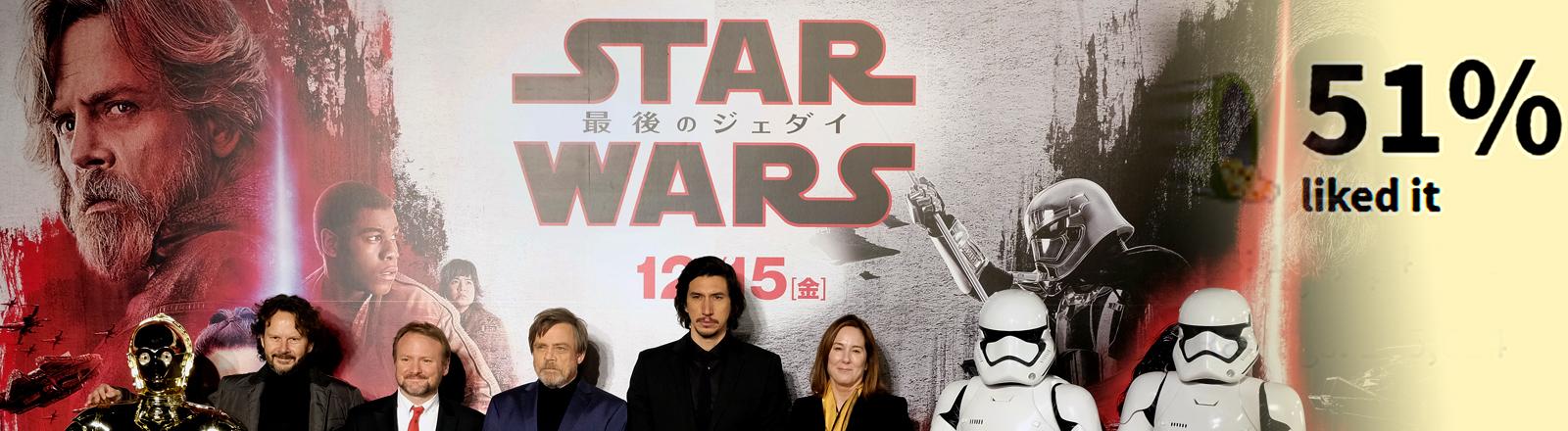 Star Wars The Last Jedi Premiere mit Schauspielern