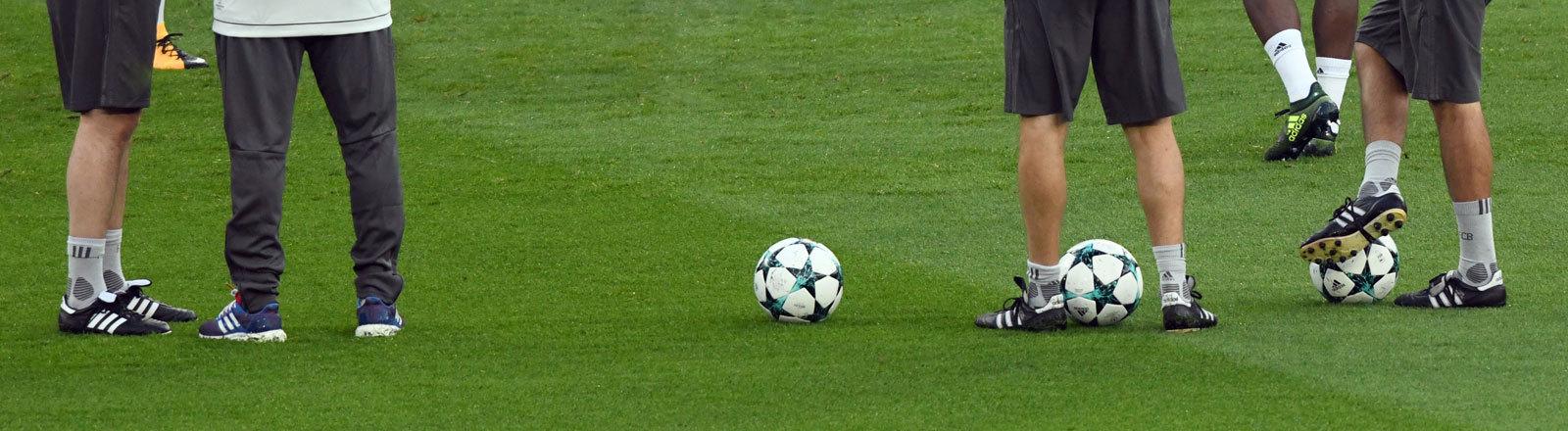 Fußballer beim Training