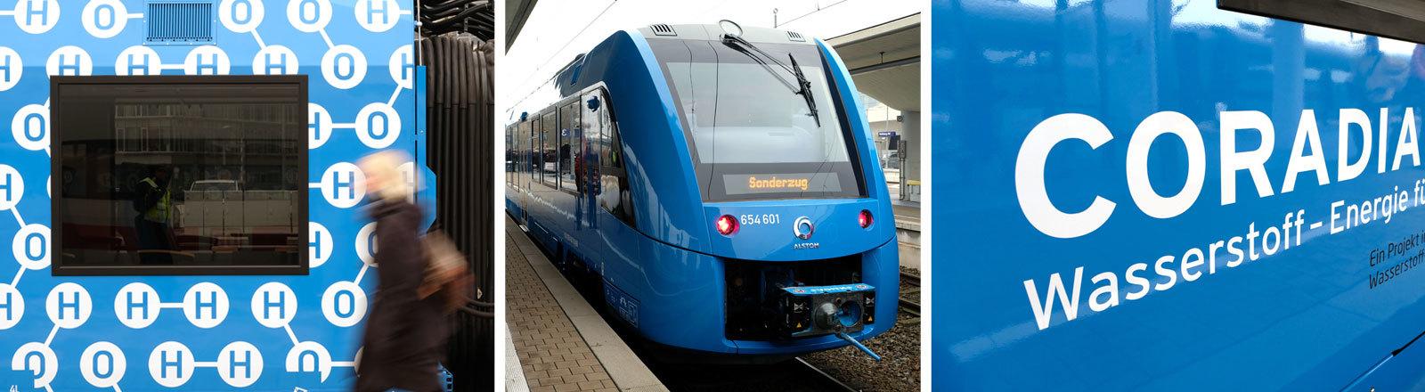 Ein mit Wasserstoff betriebener Zug