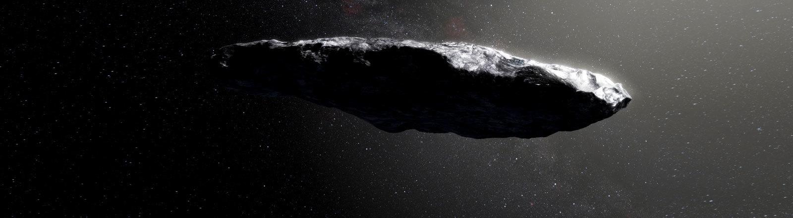 Künstlerische Darstellung eines Asteroids