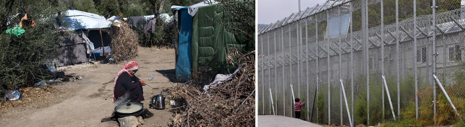 Camp Moria auf Lesbos