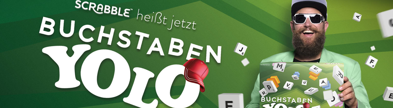 Werbegrafik von Mattel zum neuen Scrabble-Namen