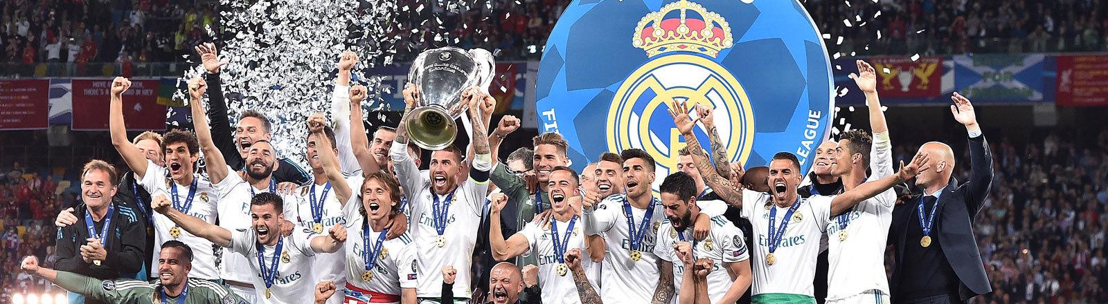 Real Madrid feiert den Champions-League-Titel