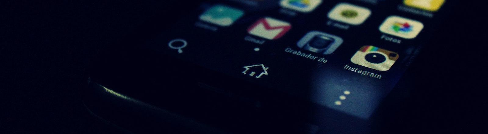 Ein Smartphone mit Android-Betriebssystem