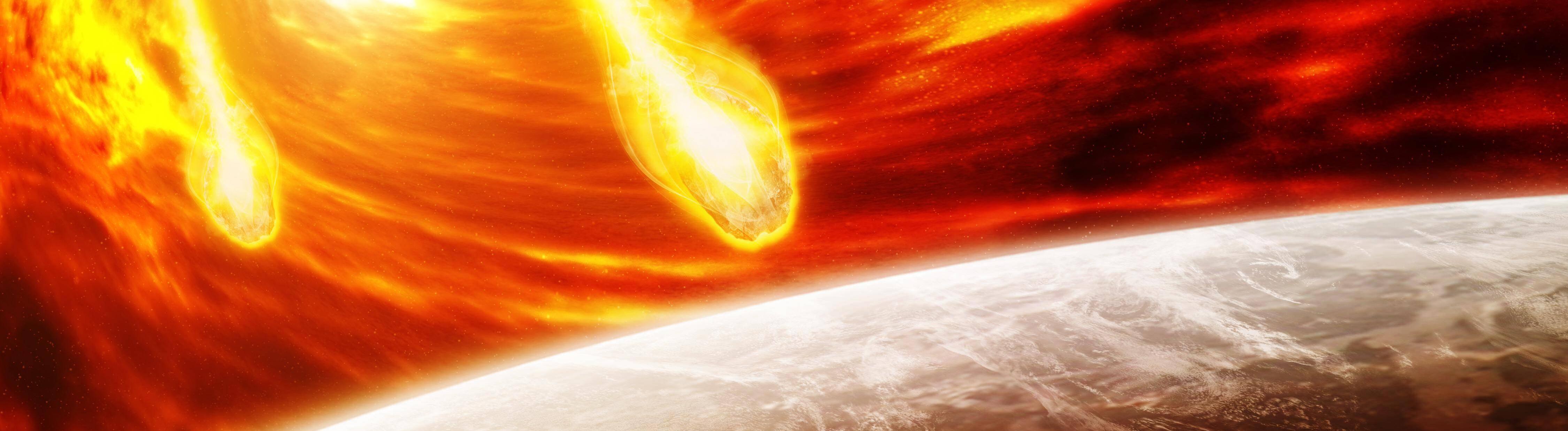 Meteoriten in der Erdatmosphäre