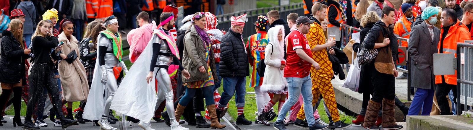 Karnevalisten in Köln