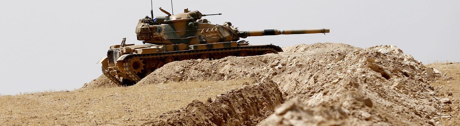 Ein türkischer Panzer in Syrien.