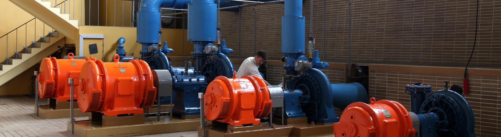 Pumpen eines Wasserwerks