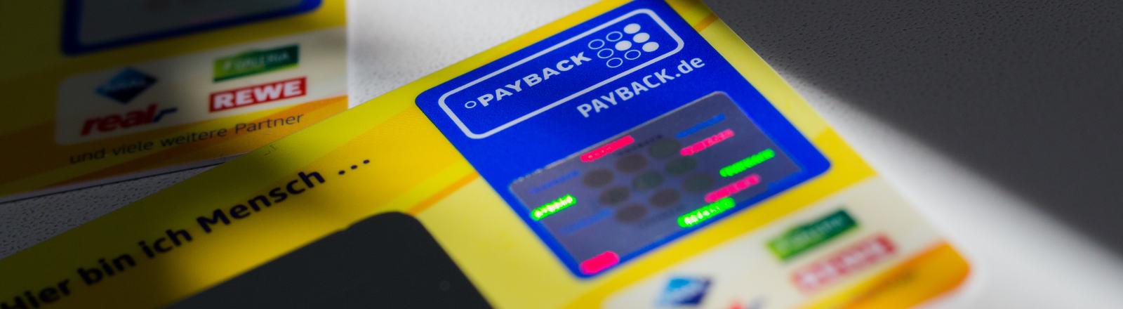 Eine Payback-Karte