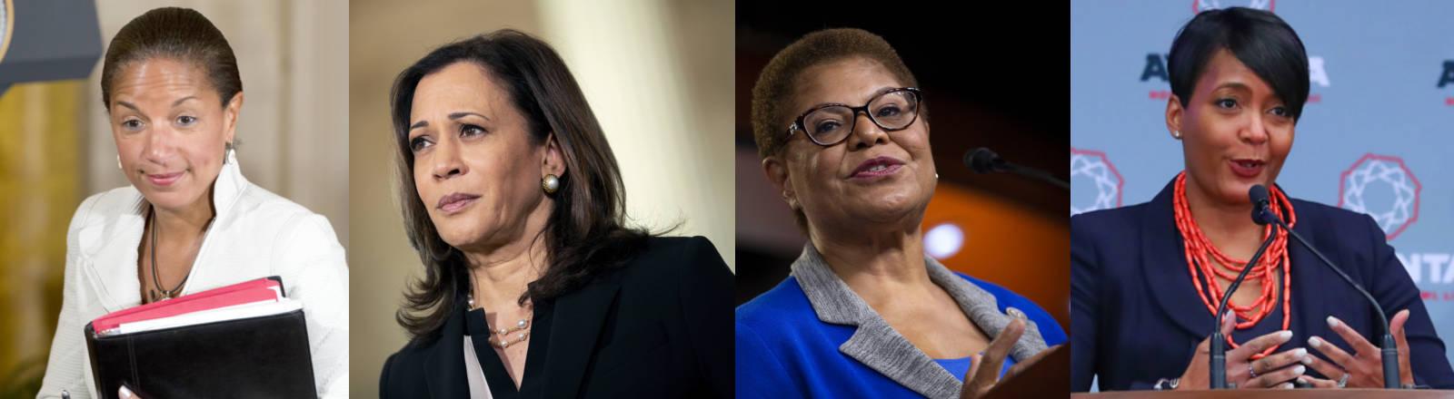 Die US-Politikerinnen Susan Rice, Kamala Harris, Karen Bass und Keisha Lance Bottoms