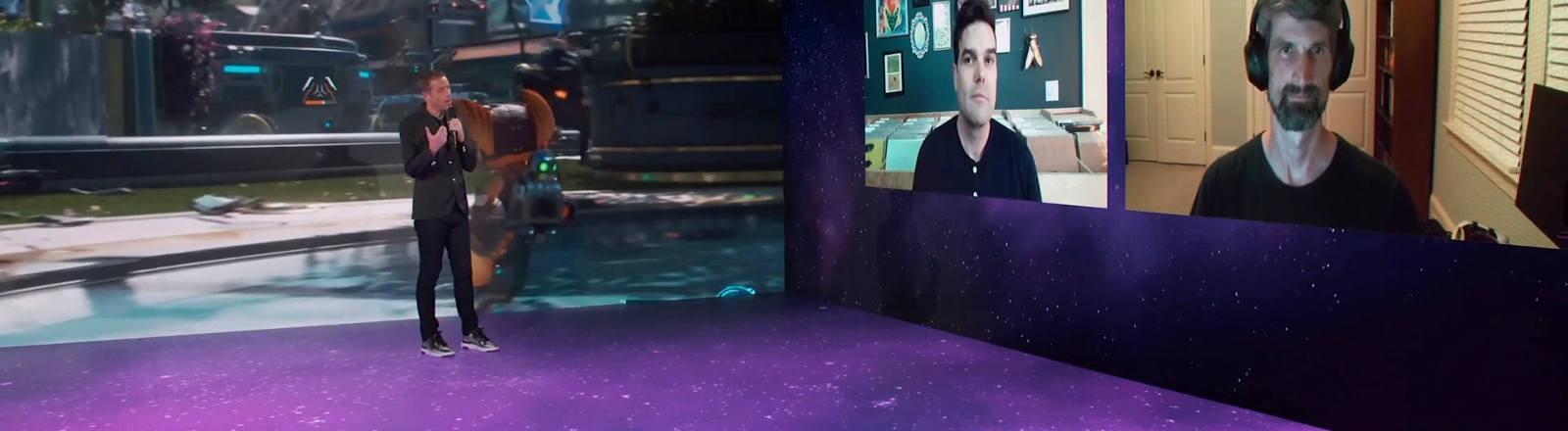 Ein Videochat auf der Gamescom
