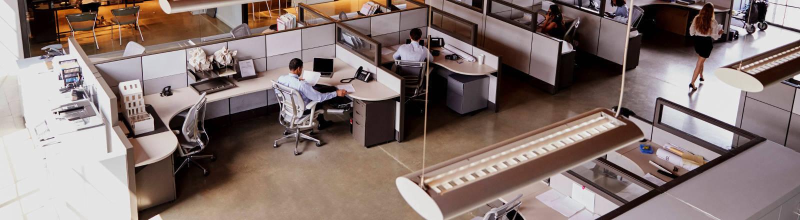 Ein Großraumbüro